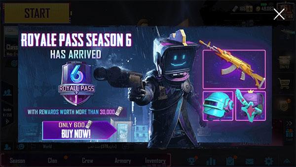 PUBG Mobile season 6 opening