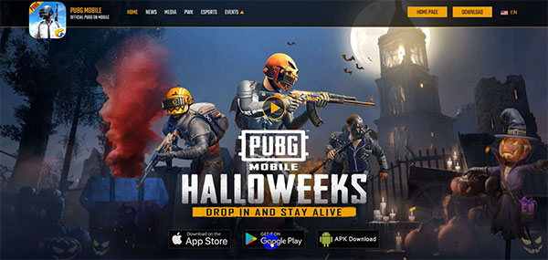 Download PUBG Android on PUBG Mobile's homepage