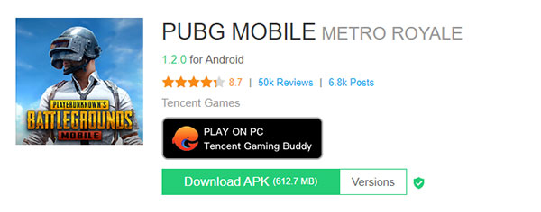 APK PUBG Mobile Android 1.2.0