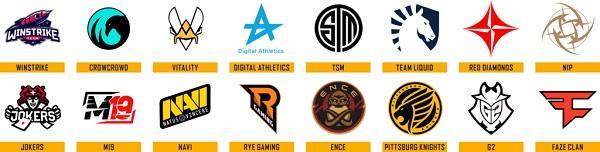 Crew logos in PUBG Europe League