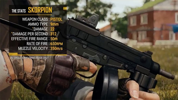 A new weapon so-called Skorpion, will be in PUBG Mobile 0.12.5
