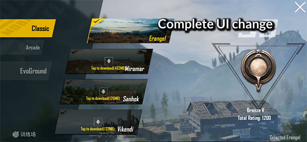 Complete UI twist with PUBG Mobile 0.14.0