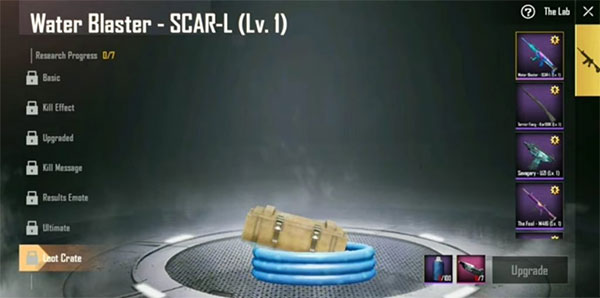 Loot Crate of Water Blaster SCAR-L in Season 8