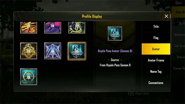 Royale Pass Avatar in PUBG Mobile Season 8