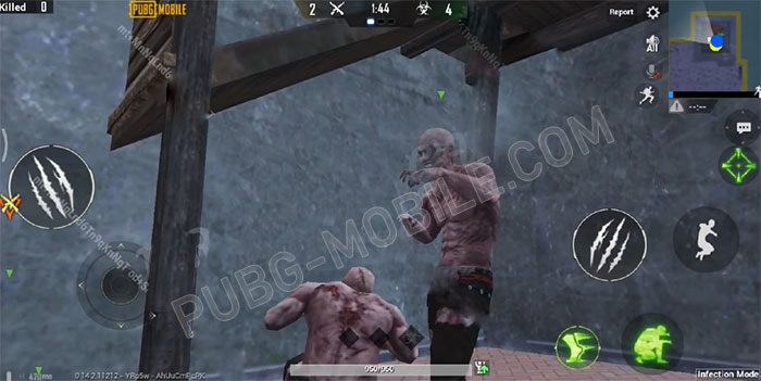 The zombie mode in game