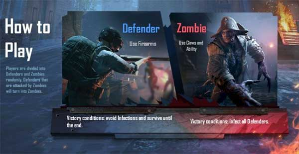 Defender In PUBG Mobile 0.14 Zombie Infection Mode