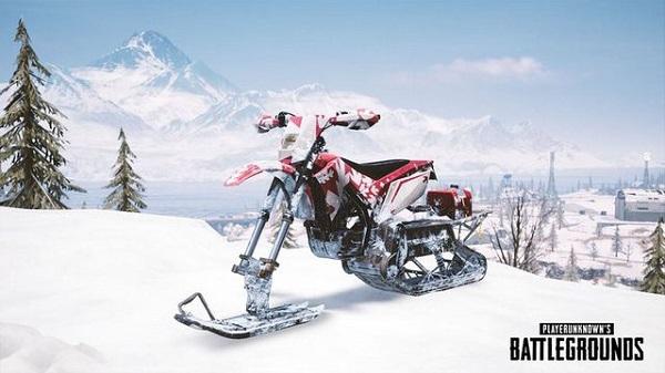 Snow Bike in PUBG Mobile 0.14.5