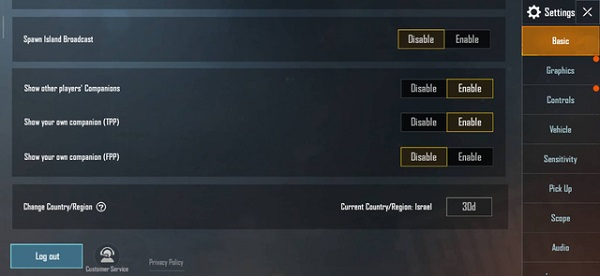 """In The PUBG Mobile """"Basic"""" Section, The Gamers Must Choose To Roam To Israel"""