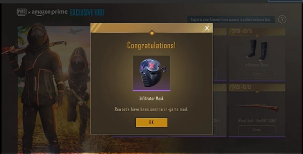 The Infiltrator Mask Offered By PUBG Mobile