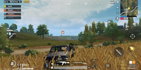 While in a PUBG Mobile vehicle, you can lean out of the vehicle from the front seat for shots from different vehicles