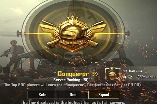 PUBG Mobile people have a more useful system ranking