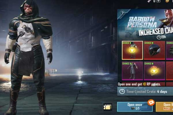 Unique items only in PUBG Mobile
