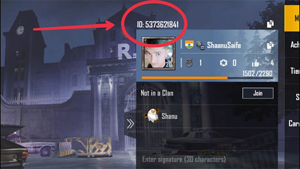 Registering an account in PUBG-mobile.com