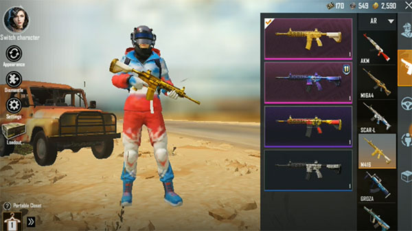 Special Item with Limited M416 Golden Skin