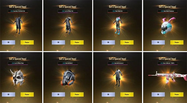 PUBG Mobile Code With Many Valuable Gifts