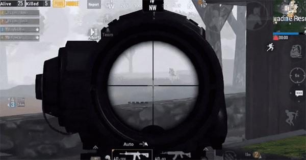 View Through 6x Optic