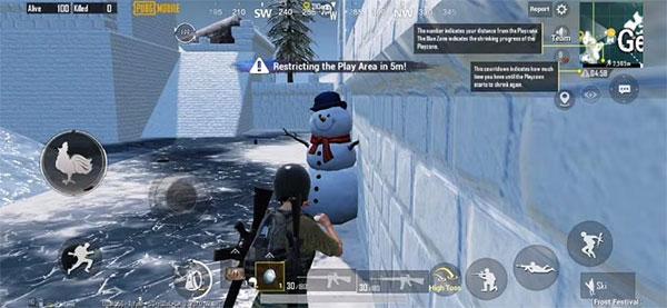 Snowman on the street