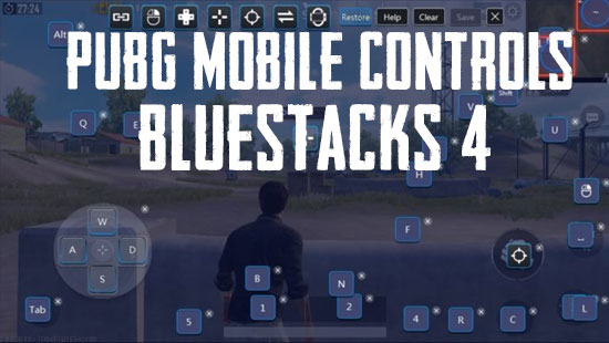 PUBG Mobile controls in Bluestacks 4