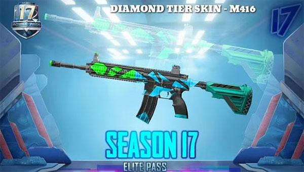 Diamond Tier Weapon Skins with M416