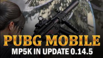 MP5K in PUBG Mobile 0.14.5 Update